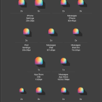 Spectrum Swatch app icons in Xcode
