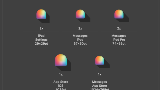 Spectrum Swatch app icons in Xcode