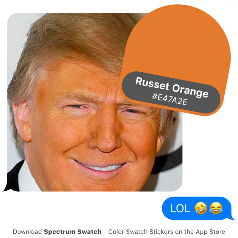 What color is Trump?